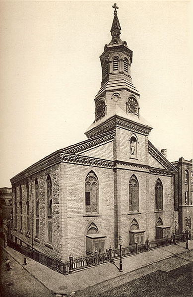 The Roman Catholic Church of the Transfiguration on Mott Street was just  around the corner from 38 Mulberry Street.