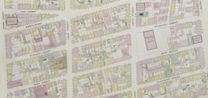 Perris Fire Insurance Map, 14th Ward (detail), 1857