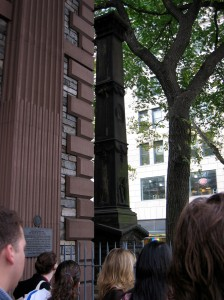 Monument erected in 1841 in memory of William J. Macneven at St. Paul's, Broadway, New York City (2004)