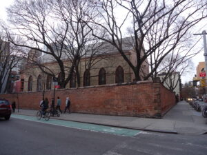 St. Patrick's Burial Ground, from Prince and Mott Streets (2012)