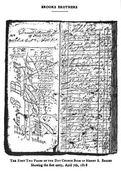 The first two pages of the Day Charge Book of Henry S. Brooks, showing the first entry, April 7, 1818 Source: http://quod.lib.umich.edu/m/moa/AEC2577.0001.001/12