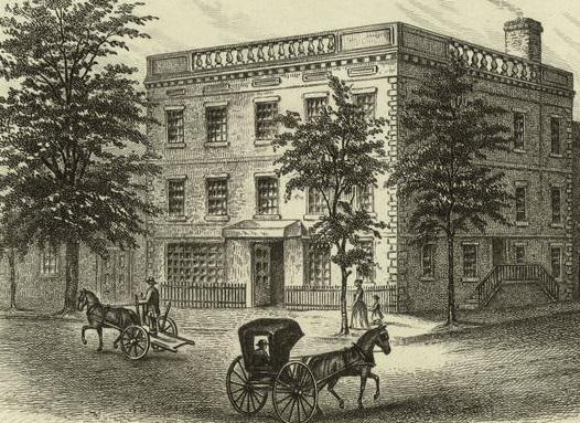 George Washington's residence on Cherry Street Source: http://www.firstladies.org/biographies/firstladies.aspx?biography=1