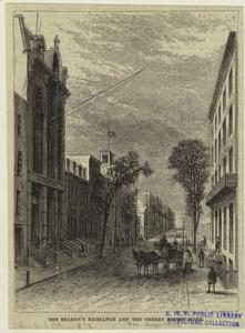 Cherry Street with Sailor's Home on the left. (from NYPL Digital Collections)