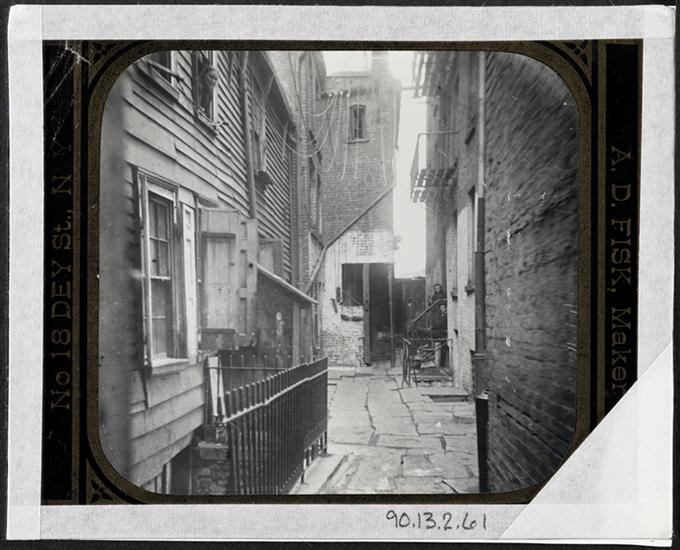 Blind Man's Alley, 22 Cherry Street, c. 1890. Photo by Jacob Riis, Museum of the City of New York (MNY41446.jpg)